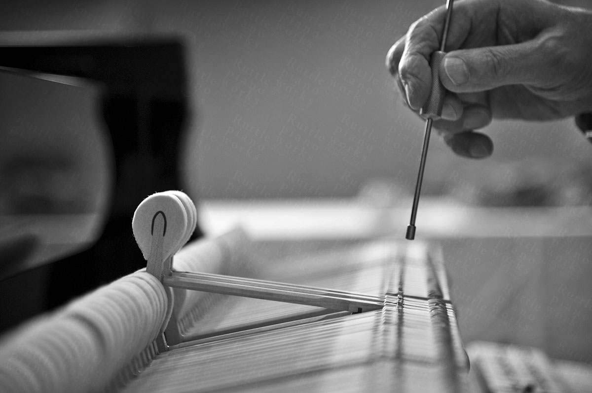Photo depicting regulation of a piano's action