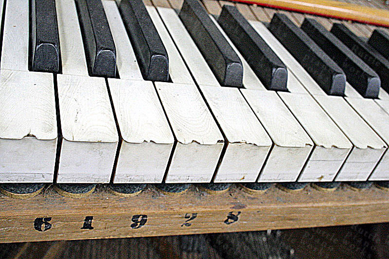 Chipped & Stained Ivory Keys prior to removal